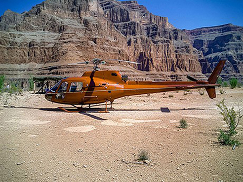 Landing at the bottom of the Grand Canyon West Rim