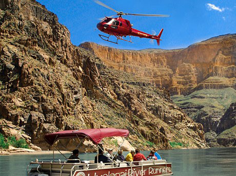 Landing at the bottom of the Grand Canyon West Rim and Colorado Boat Ride