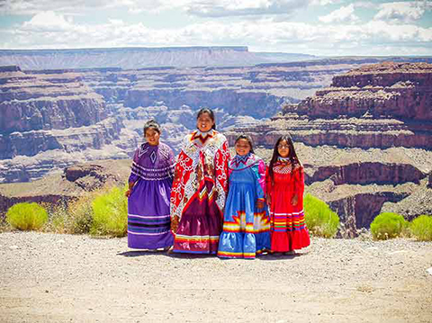 Hualapai children in their native dress