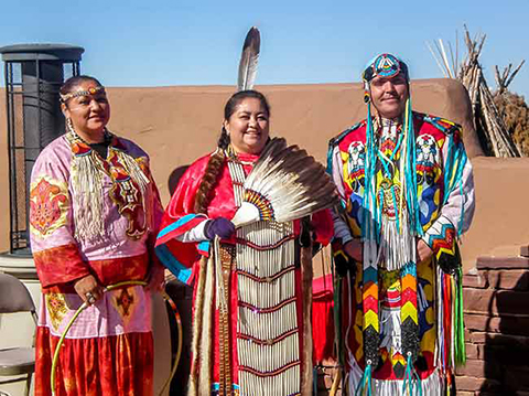 Hualapai women in their native dress