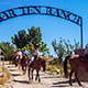 A horseride at Bar Ten Ranch is an option at the North Rim