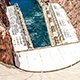 Looking down from the top of the Hoover Dam
