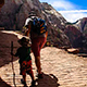 Hiking trails through spectacular Zion