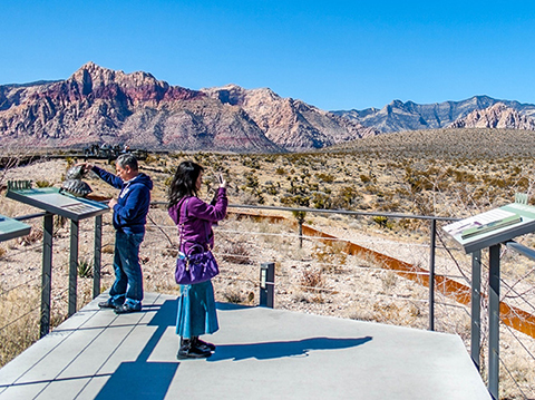 Red Rock Canyon Spectacular Views from Visitor Center Exhibit